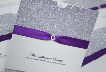Silver Glitter Wallet £4.75 per invitation