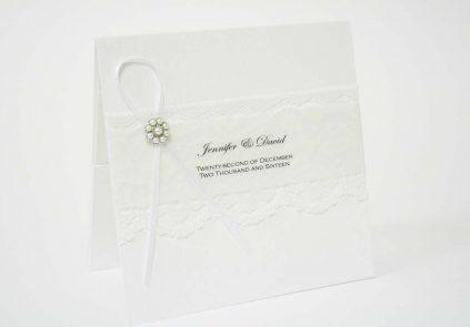 White Vintage Pearl Invitation £5.25