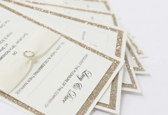 Gold Glitter Day/Evening Invitation £3.20
