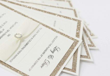 Gold Glitter Day/Evening Invitation £3.20