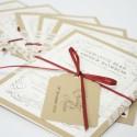Vintage Letter Stack Invitations