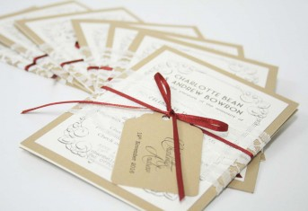 Vintage Letter Stack Invitations