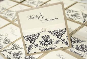 Gold Pocket Damask print Pocket