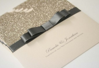 Dior Bow Glitter Pocket invitation